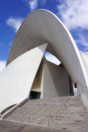 santa cruz de tenerife: Auditorium of the architect Calatrava, Santa Cruz de Tenerife, Tenerife, Canary Islands, Spain Editorial