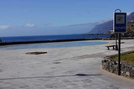 heliport: Heliport, Puerto de Santiage, Tenerife, Canary Islands, Spain