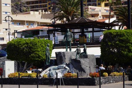 garcia: Monument to Don Pancracio Socas Garcia, Puerto de Santiago, Tenerife, Canary Islands, Spain