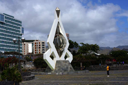 manrique: Sculpture of Csar Manrique, Santa Cruz de Tenerife, Tenerife, Canary Islands, Spain Stock Photo