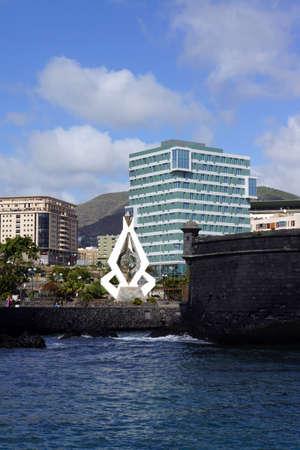 santa cruz de tenerife: Sculpture of Csar Manrique, Santa Cruz de Tenerife, Tenerife, Canary Islands, Spain Editorial
