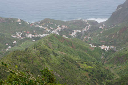 strass: View from the mountain road to Taganaga in the Anaga mountains, Tenerife, Canary Islands, Spain
