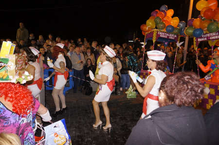 merriment: Carnival for men on high heels- Macarita ponte tacon, Puerto de la Cruz, Tenerife, Canary Islands, Spain Editorial