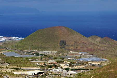 mirador: View from the Mirador Don Martin about Gimar, Tenerife, Canary Islands, Spain Stock Photo