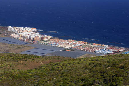 mirador: View from the Mirador Don Martin about Gimar, Tenerife, Canary Islands, Spain Stock Photo