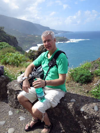 coastal hike fom Puerto de la Cruz to Mirrador San Pedro, Tenerife, Canary Islands, Spain