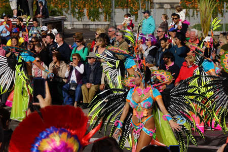 santa cruz de tenerife: Carnival parade on the Canary Islands, Santa Cruz de Tenerife, Tenerife, Spain