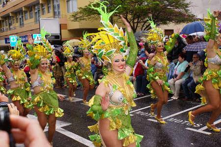 grand carnival parade, Puerto de la Cruz, Tenerife, Canary Islands, Spain