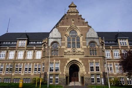 old school, sooner Empress Augusta Victoria School and Emil Fischer gymnasium, now Mathias Hagen-school, Euskirchen, North Rhine-Westphalia, Germany