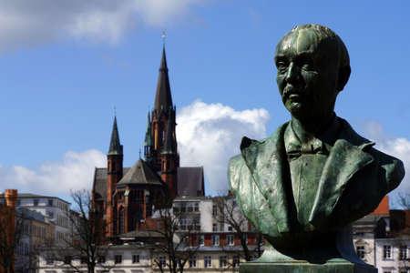 Heinrich Schliemann Monument, Schwerin, Mecklenburg-Vorpommern, Germany