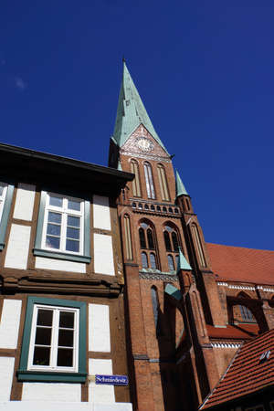 mecklenburg  western pomerania: Schwerin Cathedral, Schwerin, Mecklenburg-Vorpommern, Germany Stock Photo