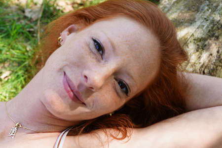 redhaired: Portrait of a young red-haired woman