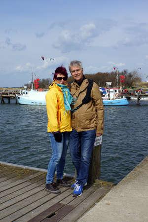 memorable: Couple beach in Port Timmendorf Insel Poel Mecklenburg Vorpommern Germany