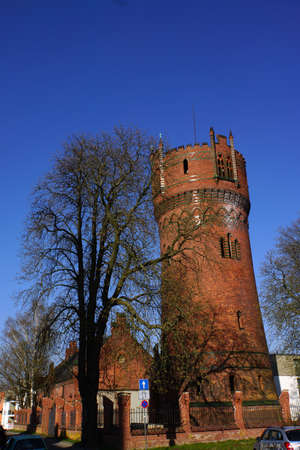 baudenkmal: Water Tower earlier part of the fortification Wismar Mecklenburg Vorpommern Germany