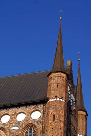 baudenkmal: Saint George Church Wismar Mecklenburg Vorpommern Germany Stock Photo