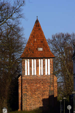 earlier: Water Tower earlier part of the fortification Wismar Mecklenburg Vorpommern Germany