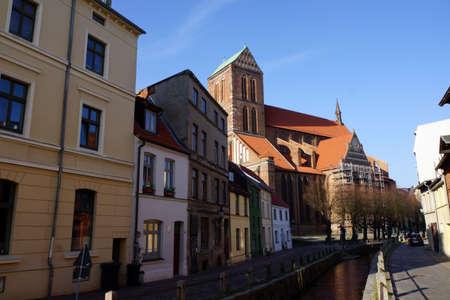mecklenburg  western pomerania: Nikolai Church - architectural monument in the historic city, Wismar, Mecklenburg-Vorpommern, Germany