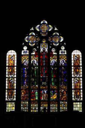 the former: Stained glass windows of the former collegiate church of Saint Alexander Wildeshausen Lower Saxony Germany