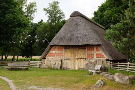 saxony: old barn at Pestrup Wildeshausen Lower Saxony Germany
