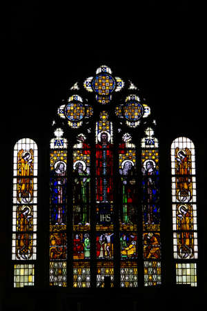 collegiate: Stained glass windows of the former collegiate church of Saint Alexander Wildeshausen Lower Saxony Germany