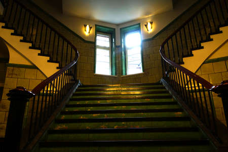 baudenkmal: Staircase in Chile House Hamburg Germany Editorial
