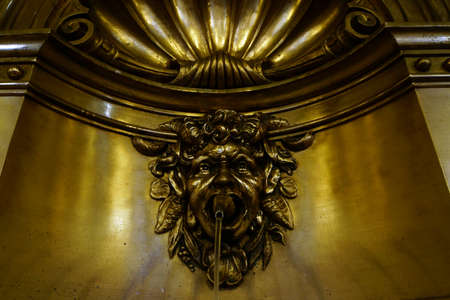 lionhead: Gargoyles in the entrance hall of the historical Town Hall Hamburg Germany