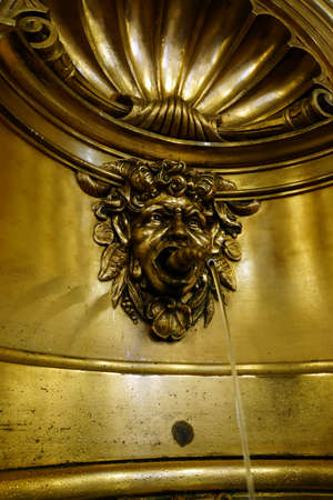 baudenkmal: Gargoyles in the entrance hall of the historical Town Hall Hamburg Germany