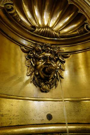 lionhead: Gargoyles in the entrance hall of the historical Town Hall Hamburg Germany