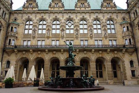 HygieiaBrunnen on the historic Town Hall Hamburg Germany