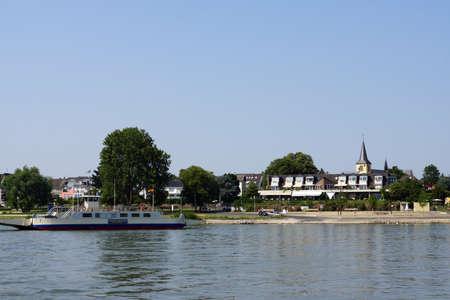 north rhine westphalia: Ferry Mondorf, Niederkassel, North Rhine-Westphalia, Germany Editorial