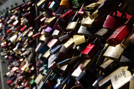 proving: Love Padlocks on Hohenzollern Bridge, Cologne, Nordrhein-Westfalen, Germany