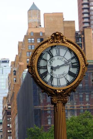 Uhr an der 5th Avenue, New York City, USA Reklamní fotografie - 42181835