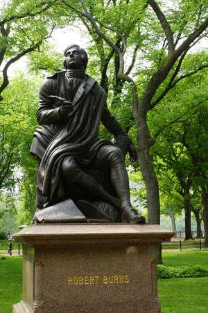 robert: Robert Burns-Denkmal im Central-Park, New York City, USA