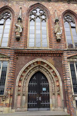 Fassade des historischen Rathauses, Bremen, Deutschland