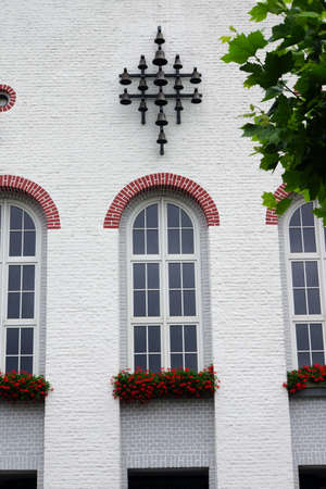 rhine westphalia: Town Hall in the former convent Karth Huser, Xanten, North Rhine, Westphalia, Germany