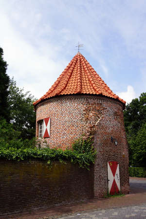 westfalen: Rundturm am Westwall, Xanten, Nordrhein, Westfalen, Deutschland