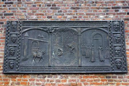Wandrelief Siegfried in Xanten, Nordrhein-Westfalen, Deutschland