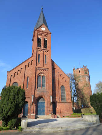 Catholic church of St. Lawrence and Water Tower