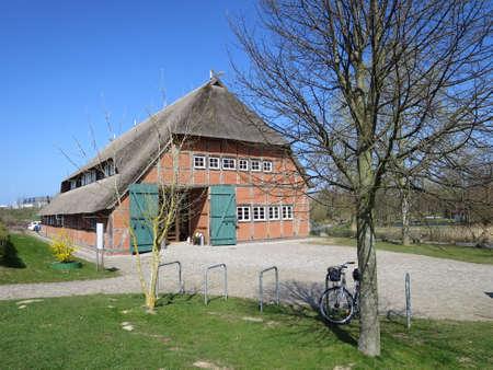 mecklenburg western pomerania: Barn in Citizen Park, Wismar, Mecklenburg, Western Pomerania, Germany