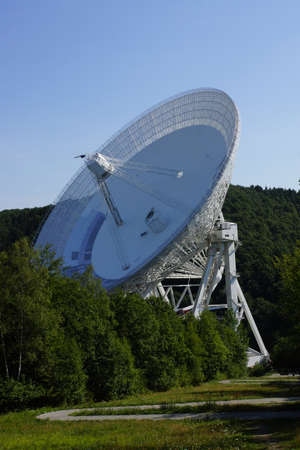 Effelsberg radio telescope of the Max Planck Institute, Bad Mnstereifel, North Rhine-Westphalia, Germany Editorial