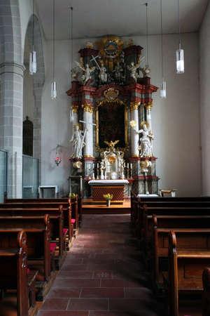 high altar: All Saints Church, Erfurt, Thuringia, Germany