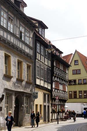 erfurt: historic old town, Erfurt, Thuringia, Germany