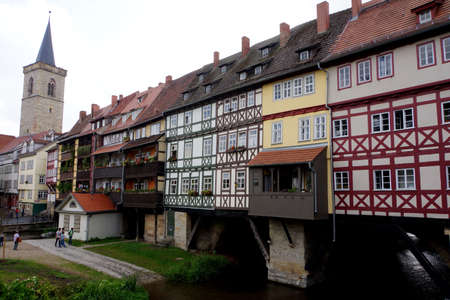 chandler: Chandler Bridge, Erfurt, Thuringia, Germany Editorial