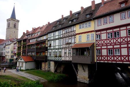 Chandler Bridge, Erfurt, Thuringia, Germany Editorial