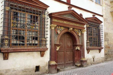 erfurt: Medieval building, Erfurt, Thuringia, Germany Stock Photo