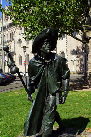 north  rhine westphalia: Pilgrim Monument in front of the St. Quirinus Cathedral, Neuss, North Rhine, Westphalia, Germany Editorial