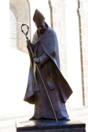 archbishop: Monument Joseph Cardinal Frings, Archbishop of Cologne, Neuss, North Rhine-Westphalia, Germany