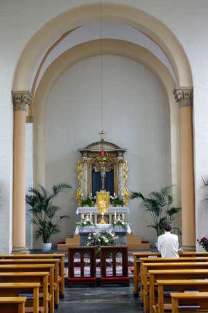 north rhine westphalia: Klosterkirche Sankt Sebastian, Neuss, Nordrhein-Westfalen,  Deutschland Editorial