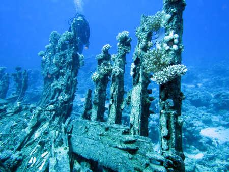ship wreck: Ship wreck Stock Photo