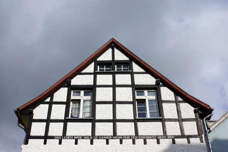 north  rhine westphalia: Half-timbered house in the historic Old Town, Bad Mnstereifel, North Rhine-Westphalia, Germany
